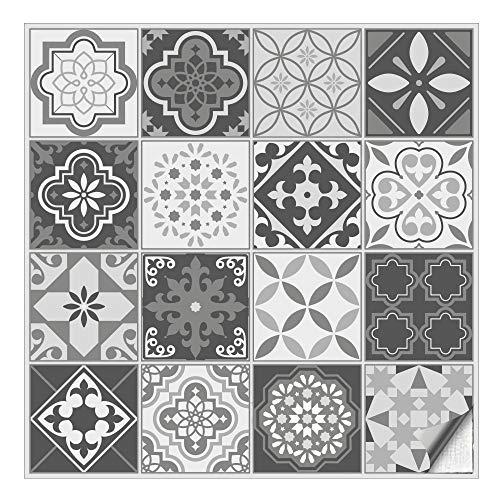 er Stickerfliesen Klebefliesen Fliesen-Folie Sticker Aufkleber Küche Wand-Fliesen überkleben 9,5 x 9,5 cm 16 Stück im Set ()