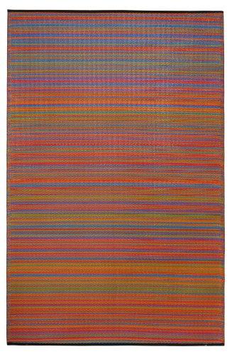 Fab Hab - Cancun - Multifarben - Teppich/ Matte für den Innen- und Außenbereich (90 cm x 150 cm)