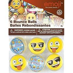 Partygram 6 Pelotas Saltarinas Motivo Emojis-Surtido Diferente, Multicolor, Talla única (50638)