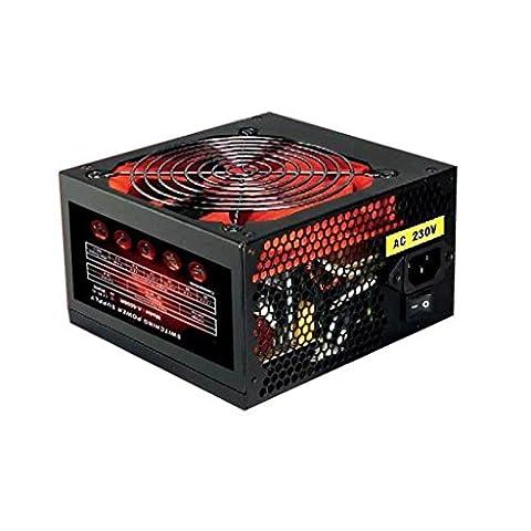 PSU 600W ATX Schaltnetzteil / 12cm Silent Rot Flügel / für PC Computer / iCHOOSE