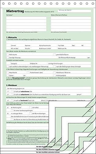 SIGEL MV480/25 Mietverträge mit Hausordnung, selbstdurchschreibend, 4x2 Blatt, DIN A4, 25 Stück