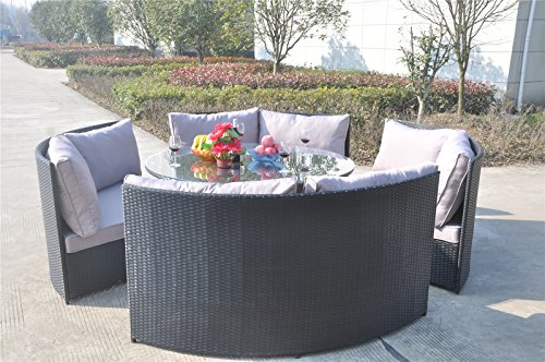 yakoe 10 seater round dining set rattan garden furniture patio conservatory sofa set garden rattan furniture