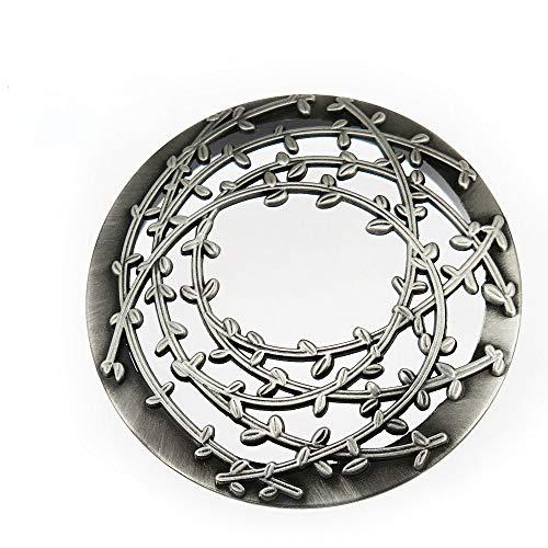 JinSu Jar Kerze Deckel, Metallabdeckung, Kerzen Zubehör für Jar Candles, Yankee Candle und mehr ( Silber 01 )