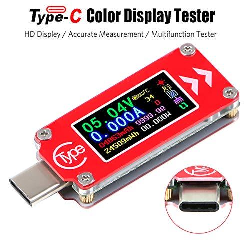 Typ-C USB Spannungsprüfer Multimeter Voltmeter Amperemeter Tester 0-4A 3.7-30V Typ-C USB Stromzähler Tester 0.96 Zoll IPS HD Display Multifunktions Amperemeter TC64