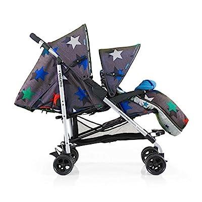 Cosatto Shuffle Megastar Tandem Stroller, Grey  Hujindong