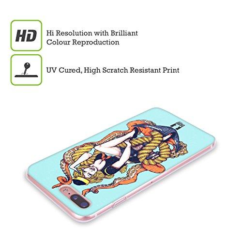Head Case Designs Faro Chevron Nautiche Cover Morbida In Gel Per Apple iPhone 7 Plus / 8 Plus Hello Sailor