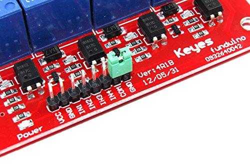 Keyes 5/V 8/canali modulo rel/è md-011/250/V AC 30/V DC Funduino