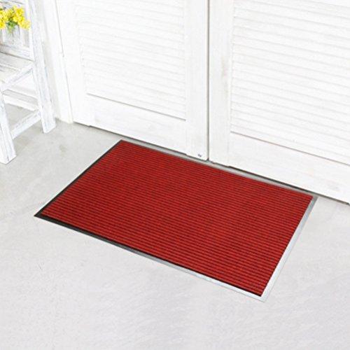 atte Hall Teppich Schlafzimmer Fuß Pad Anti-Rutsch-Teppich Badezimmer saugfähig Teppich (3Zusammen Für Verkauf) Rot ()