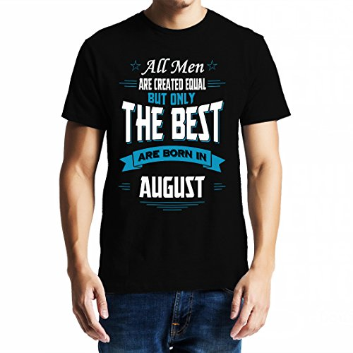 baklol.in Men's Round Neck Printed Birthday T-Shirt/Gifting T-Shirt(August Birthday), Black