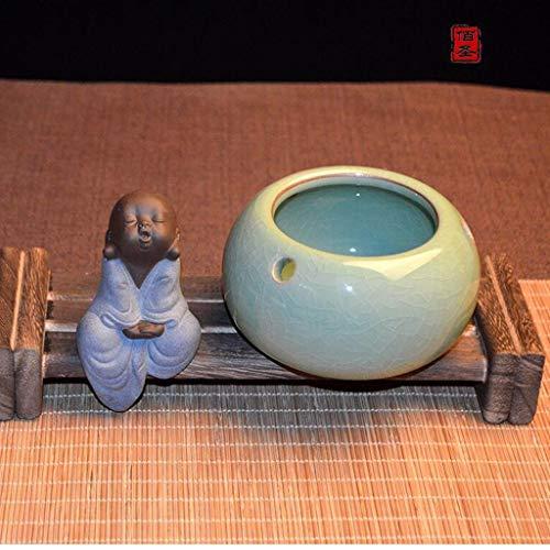 JSFQ Celadon Cenicero Cenicero cerámica Chino Retro