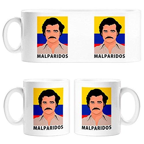 Taza Narcos Pablo Escobar malparidos - Cerámica