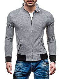 BOLF – Sweat-shirt – Veste – Fermeture éclair – DAVID COPPER 8003B – Homme