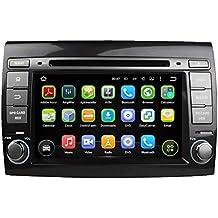 7 pollici Android 5.1.1 Lollipop OS Lettore DVD dell'automobile per Fiat Bravo(2007 2008 2009 2010 2011 2012), Quad Core 1.6G Cortex A9 CPU 16G Flash 1G RAM DDR3 1024x600 GPS Radio Ingresso Aux OBD2 - Costruito Nel Registratore Cd