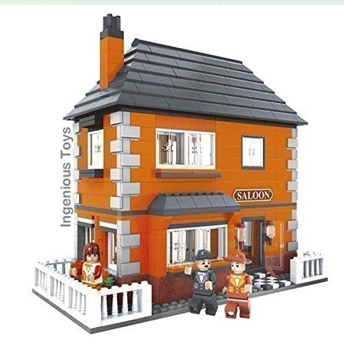 Modelo de casa saloon villa compatible con creator 25802