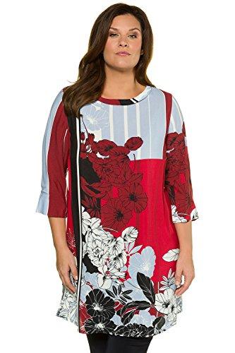 Ulla Popken Femme Grandes Tailles Tunique Longue 714571 Rouge
