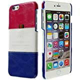 3Q Lujosa Carcasa iPhone 6 Plus Carcasa para iPhone 6S Plus Funda para Apple Novedad Mayo 2016 Funda iPhone 6 Top Diseño lujoso exclusivo Suizo Azul Blanco Rojo