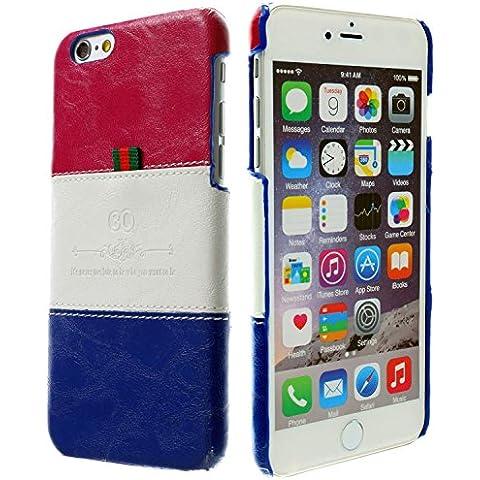 3Q Lujosa Carcasa iPhone 6 Plus Carcasa para iPhone 6S Plus Funda para Apple Novedad Mayo 2016 Funda iPhone 6 Top Diseño lujoso exclusivo Suizo Azul Blanco