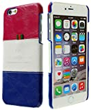 3Q Luxurious iPhone 6S Plus Case Apple iPhone 6S Plus Case 5.5 inch Premium Faux Leather iPhone 6 Plus Cover Skin Pink-Red White Blue