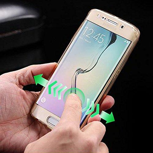Sunroyal Samsung J5 2016 3D Lovely Coniglio Custodia in Silicone Foldable Rabbit Bunny Ear Case Sottile Anti Scivolo Trasparente Soft Morbido TPU Bumper Copertura della Protezione con Orecchio Support 360° TPU - 04