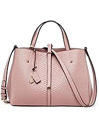 025f1b871513f AFCITY Damen Handtasche Kosmetiktasche Pendler Leder Handtaschen Schlangen  Mode Umhängetasche Messenger Bag Shopper Tasche (Farbe…