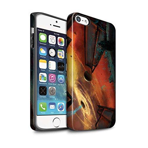Offiziell Chris Cold Hülle / Matte Harten Stoßfest Case für Apple iPhone 5/5S / Entfernten Stern Muster / Galaktische Welt Kollektion Schwarzes Loch