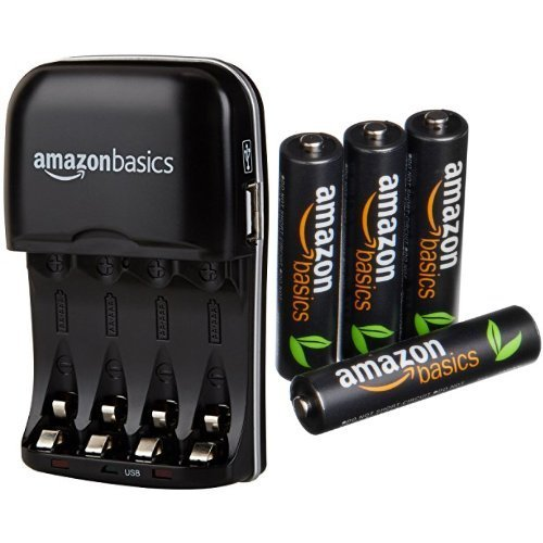 AmazonBasics Chargeur de piles Ni-MH AA et AAA...