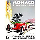 Wee Blue Coo LTD Vintage Advert Transport Grand Prix Monaco