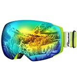 OutdoorMaster Ski Goggles PRO - Frameless, Interchangeable Lens 100% UV400 Protection Snow Goggles