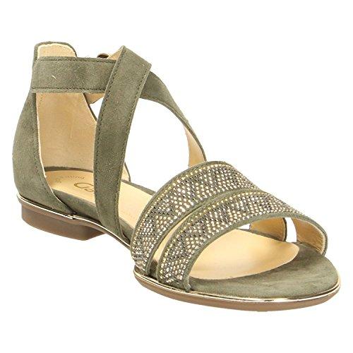 Gabor Fashion, Sandali con Cinturino alla Caviglia Donna Verde (Oliv)