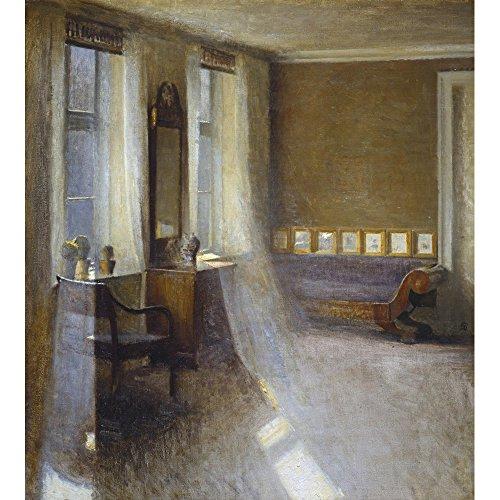 Sunlit Raum mit Biedermeier Sofa, Kunstdruckpapier, matt, 255 g/m², Image size: 345mm x 310mm...
