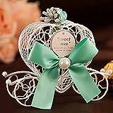 Rosepoem Dulce de caramelo caja de regalo para la boda carro de la calabaza y el corazón Romatic Styling arte del arte del hierro Azul