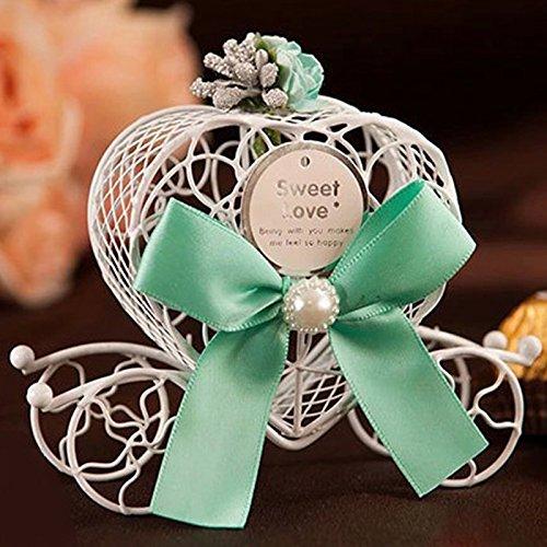 Kicode Boîte cadeau Romantique Le chariot Panier de rangement Cas Fête de mariage Favors Mignonne Hollow Out Love Heart 2,3 \