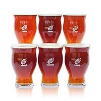 Lot de 6de manière unique étiqueté empilable 16onces verres à bière artisanale avec un design à noyau sont conçus pour une polyvalence et amélioration du sensoriel. Chaque verre a une unique HOP si vous ne perdez plus votre verre. Chaque lot compre...
