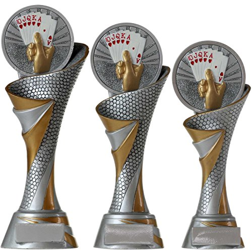 Silber Sharplace Metall Poker Trophy Cup Poker Souvenirs Poker-Troph/äe