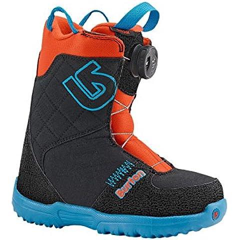 Niño botas de Snowboard Burton GROM Boa, color Azul - Webslinger Blue, tamaño 13