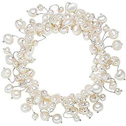 Valero Pearls Pulsera de perlas embellecida con Perlas de agua dulce - Hilo de seda - Pearl Jewellery, Pulseras, Pulsera de Hilo de seda - 120320