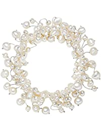 Valero Pearls - Bracelet de perles - Perles de culture d'eau douce - Soie perlée - Bijoux de perles - 120320