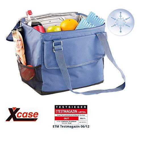 Xcase Autokühltasche: Elektrische 12-V-Thermo-Kühltasche fürs Auto, 35 l (Elektrische Kühltasche faltbar)