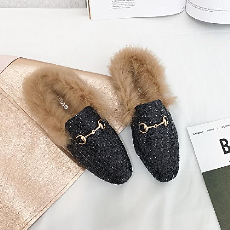 LaxBa Mesdames Accueil Parole de de Parole chaussons moelleux agréable Cotton-Padded,Chaussures Semelle noire 35Noir 35 - B077W9MMT4 - bcba7c