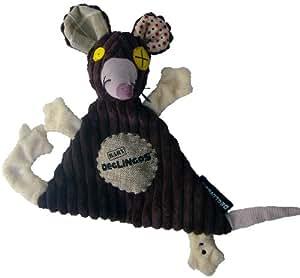 Les Déglingos Doudou Rat Baby Ratos 27xcm