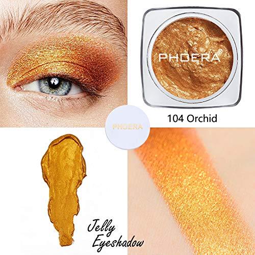YIDADIAN Gelee-Gel-Lidschatten Glitzer-Lidschatten-Palette Langlebiger Shimmer Glow Lidschatten Textmarker für Make-up -