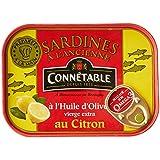 Connetable Sardines À L'Ancienne À L'Huile D'Olive Vierge Extra au Citron - Lot de 5