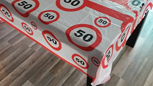 Sachsen Versand 50 igster Geburtstag-Feier-abwaschbare Party-Feier-Tisch-Decke-Deko-Idee