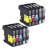 Azprint 10-Pack Kompatibel Brother LC223XL Druckerpatronen Hohe Kapazität mit Chip für Brother DCP-J4120DW DCP-J562DW MFC-J5320DW J5620DW J5625DW J5720DW J4420DW J4620DW J4625DW J480DW J680DW J880DW Drucker | 4 Schwarz, 2 Blau, 2 Rot, 2 Gelb