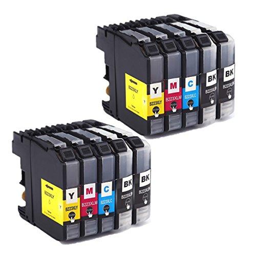 Azprint 10er Set Kompatibel Brother LC223 XL Druckerpatronen Hohe Kapazität mit Chip für Brother DCP-J4120DW DCP-J562DW MFC-J5320DW J5620DW J5625DW J5720DW J4420DW J4620DW J4625DW J480DW J680DW J880DW Drucker | 4 Schwarz, 2 Blau, 2 Rot, 2 Gelb