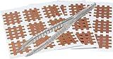 mediAID Crosslings/Spiral-Crosslings (Akupunkturpflaster) in 3 Größen, Das Original inkl. Pinzette, Braun, 2.0cm x 2.5cm, 180 Stk.