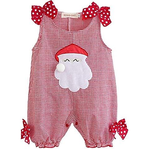 YIZYIF Bebé Niñas Mameluco Tela Escocesa De Navidad Santa Claus Traje Para 0-18 Meses
