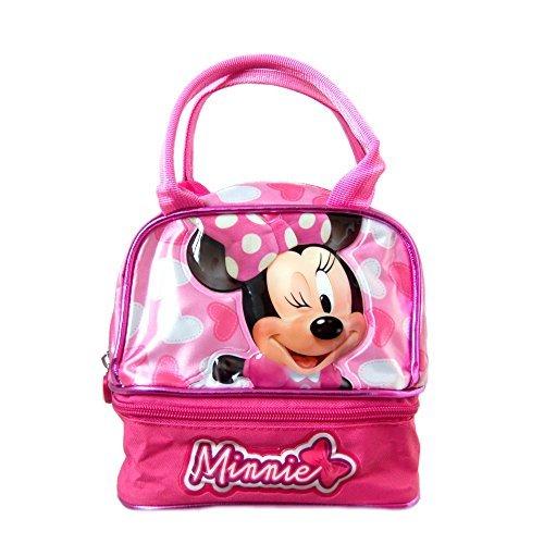 Disney - Borsa tipo bowling, per bambine, per una giornata fuori, porta pranzo, motivo: Minnie, colore: rosa - Mouse Pranzo