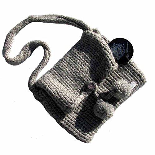 miss-blumarine-enfants-sac-en-tricot-avec-pompons-gris-taille-unique