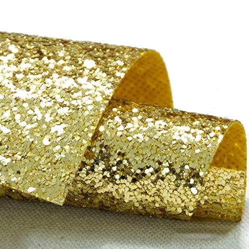 L&Y Teppich- Gangläufer Schimmer Pailletten Stoff Hochzeit Floor Runner, Glitter Carpert Runner Non-Slip Mat (Color : Gold, Size : 1.38×5m)